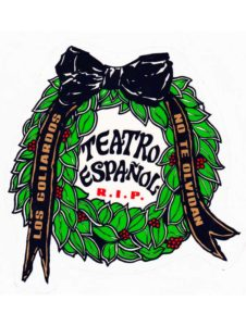 Pegatina RIP Teatro Español