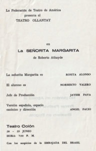 La Señorita Margan- flyer