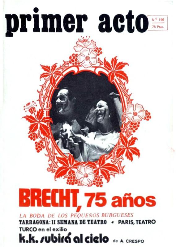 Primer Acto revista de teatro-156-brecht-75-anos-vvaa-primer-acto-1973