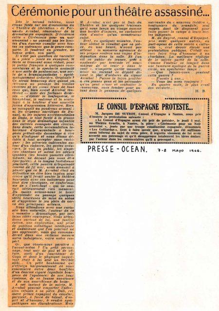 Ceremonia por un negro asesinadoFestival Internacional de Teatro Universitario de Nancy Presse-Ocean. 1966