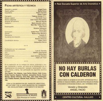 No hay burlas con Calderón - Programa