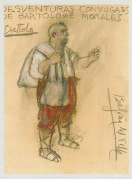 Desventuras conyugales de Bartolomé Morales - Figurín Begoña del Valle