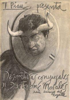 Desventuras conyugales de Bartolomé Morales - Cartel Miguel Zapata