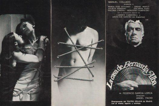 Programa de A Casa de Bernarda AlbaPrograma portada