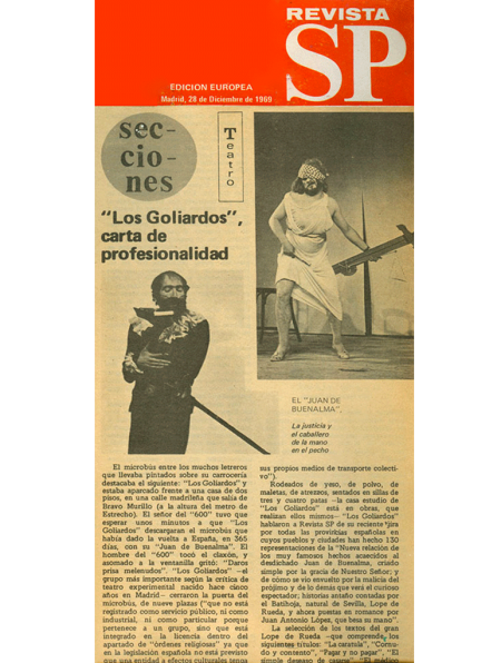 Revista SP - Edición Europea, Madrid 28/12/1969