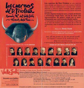 Programa - Los cuernos de Don Friolera