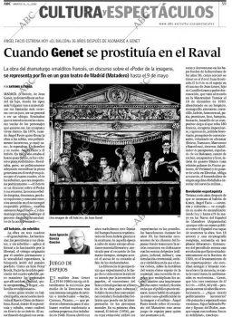 El Balcón - ABC - Madrid- Artículo de Prensa